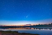 istock Comet Neowise in the dark night sky after sunset, Torrance Barrens Dark-Sky Preserve, Gravenhurst, Canada 1257806998