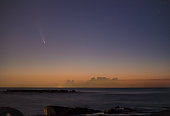 Comet Neowise over the ocean shot from Asbury Park at Jersey Shore