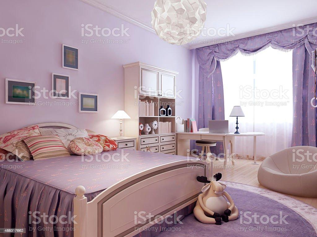 Confortevole Camera Da Letto Per Ragazza Adolescente ...