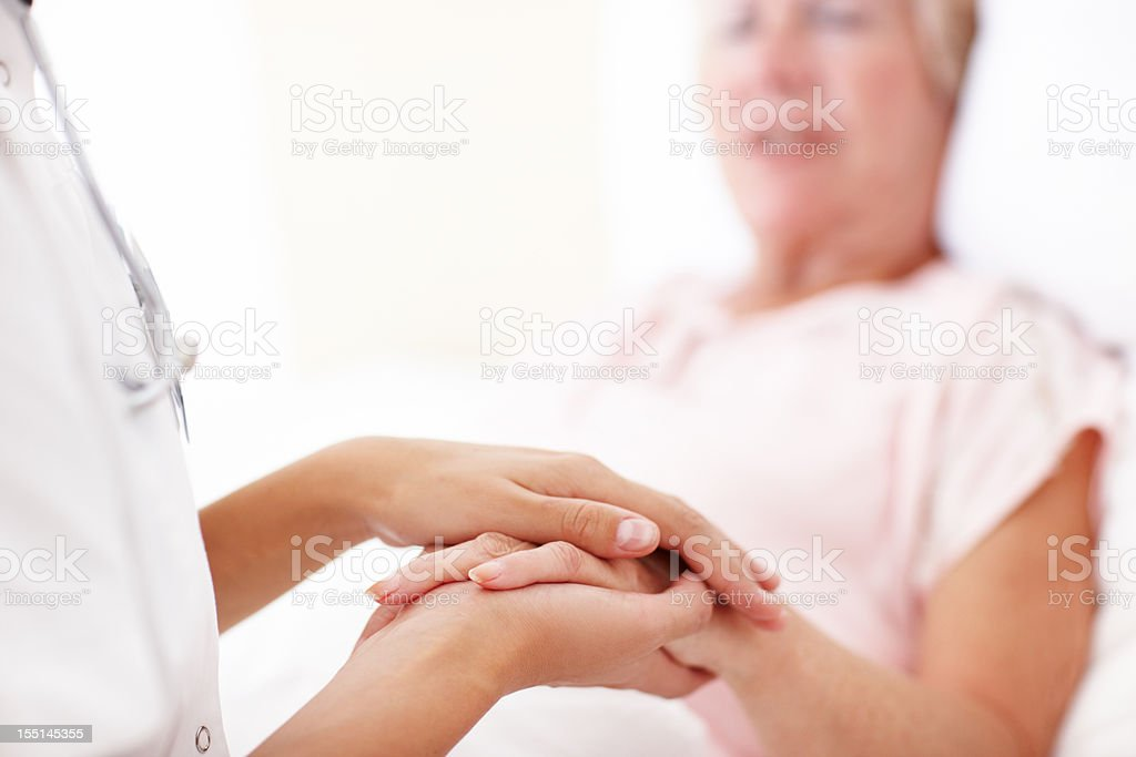 Comfort in her time of need royalty-free stock photo
