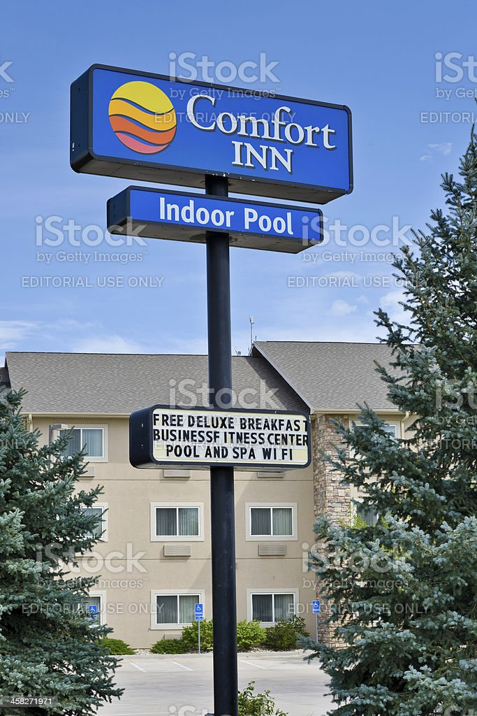 Comfort Inn Hotel royalty-free stock photo