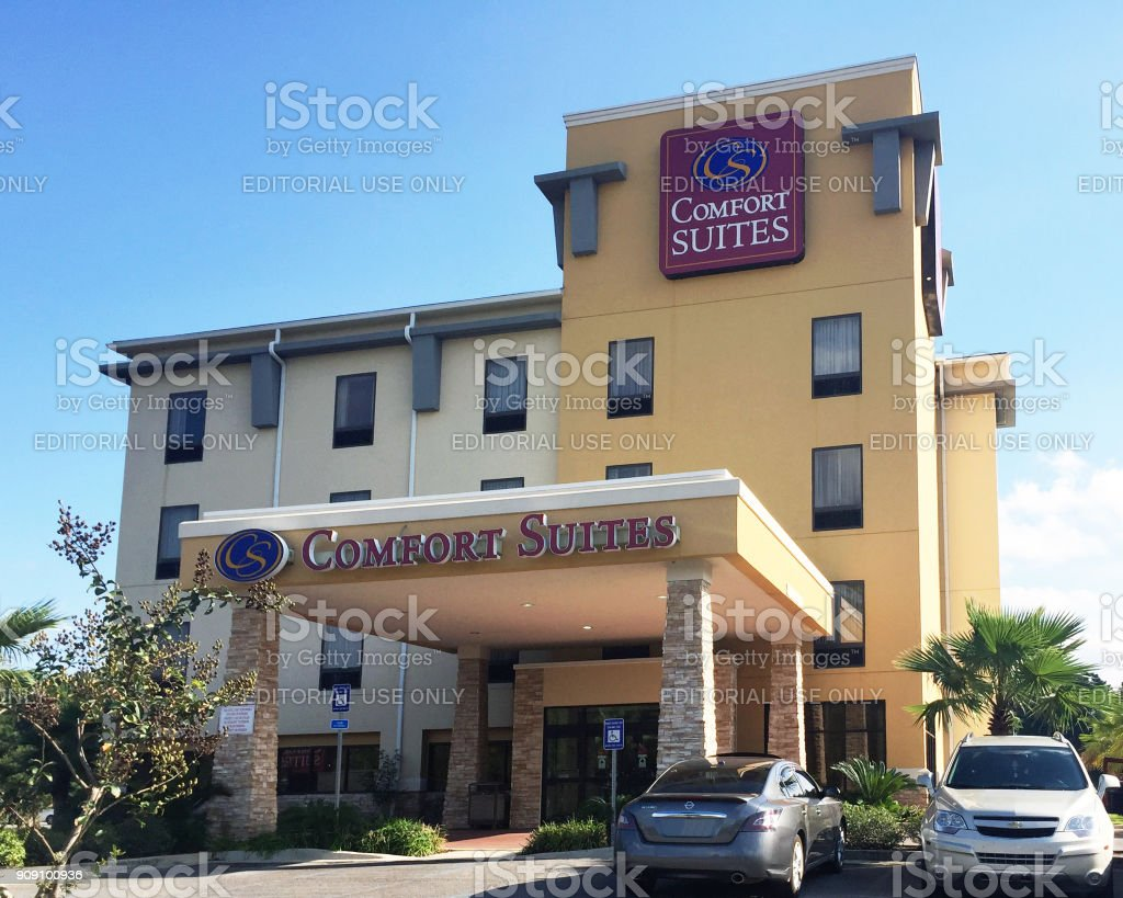Comfort Suites all suite hotel stock photo