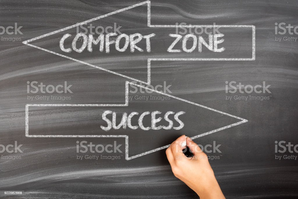 Comfort Zone - Success stock photo