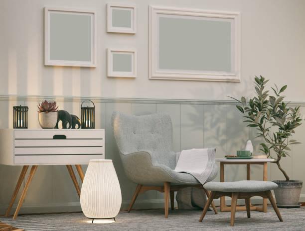 bequemer sessel - teppich geometrisch stock-fotos und bilder