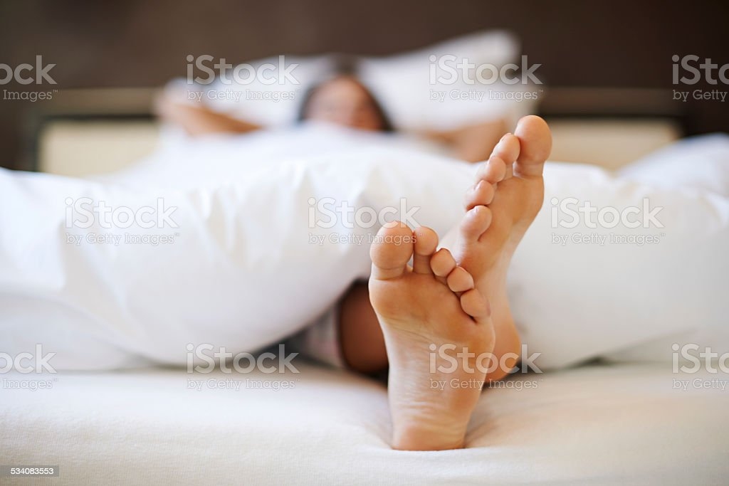 Comfortable bed for me is a priority stock photo