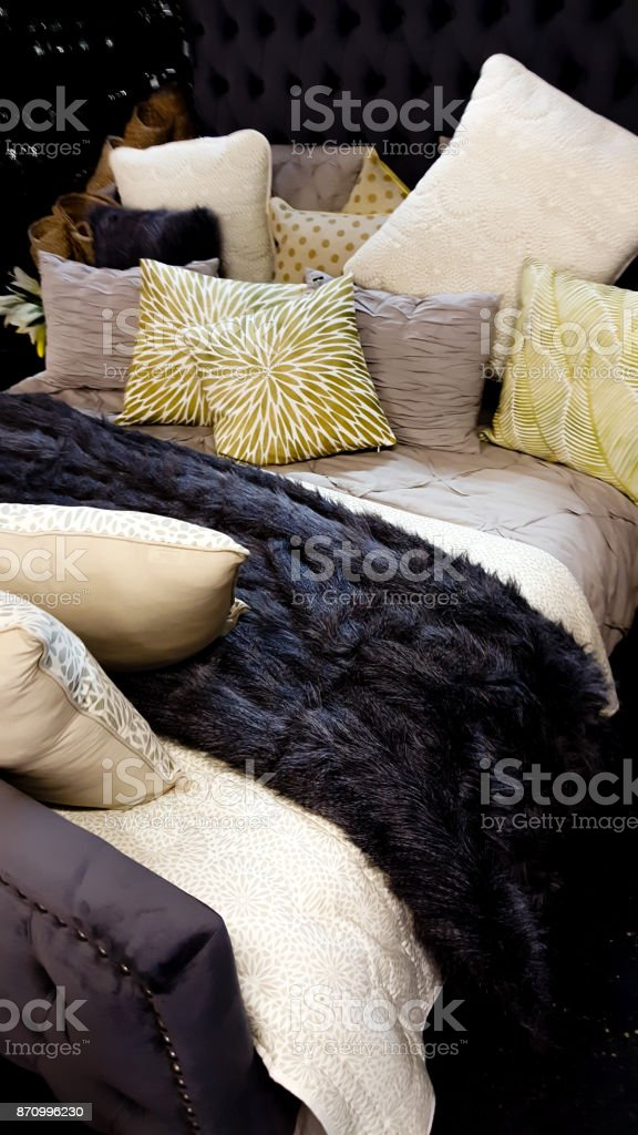 Comfortable Bed stock photo