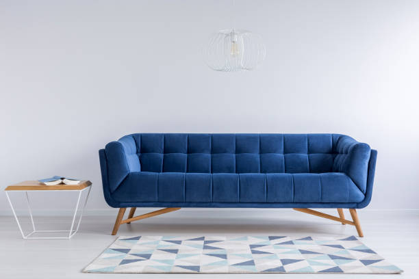 Comfortable blue couch - Photo