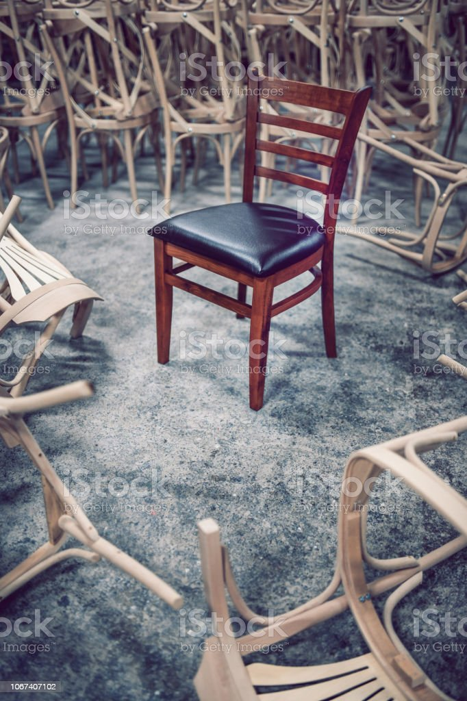 Comfortable Dining Chair Captured In Wood Factory