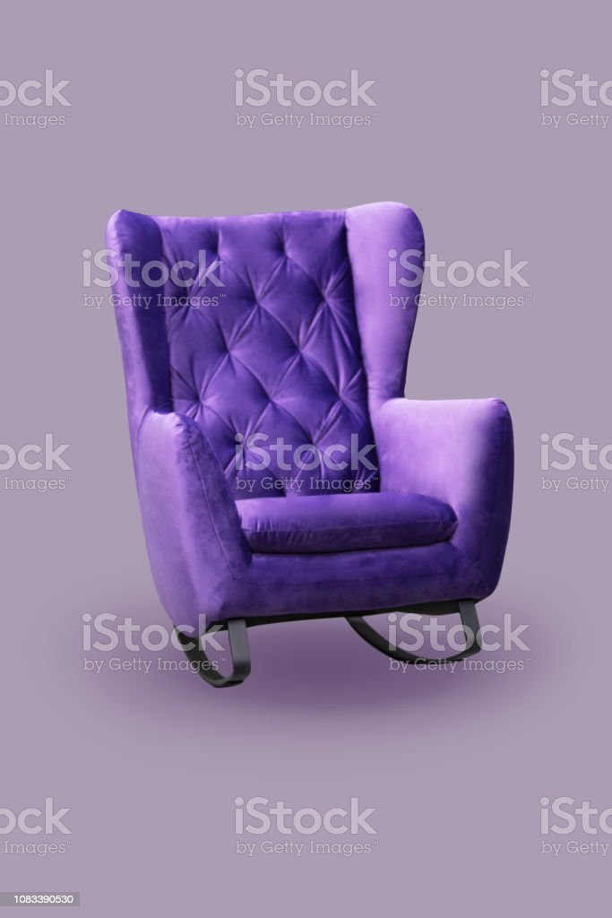 Stupendous Comfortable Fashionable Rocking Chair Purple Sofa Isolate Ibusinesslaw Wood Chair Design Ideas Ibusinesslaworg
