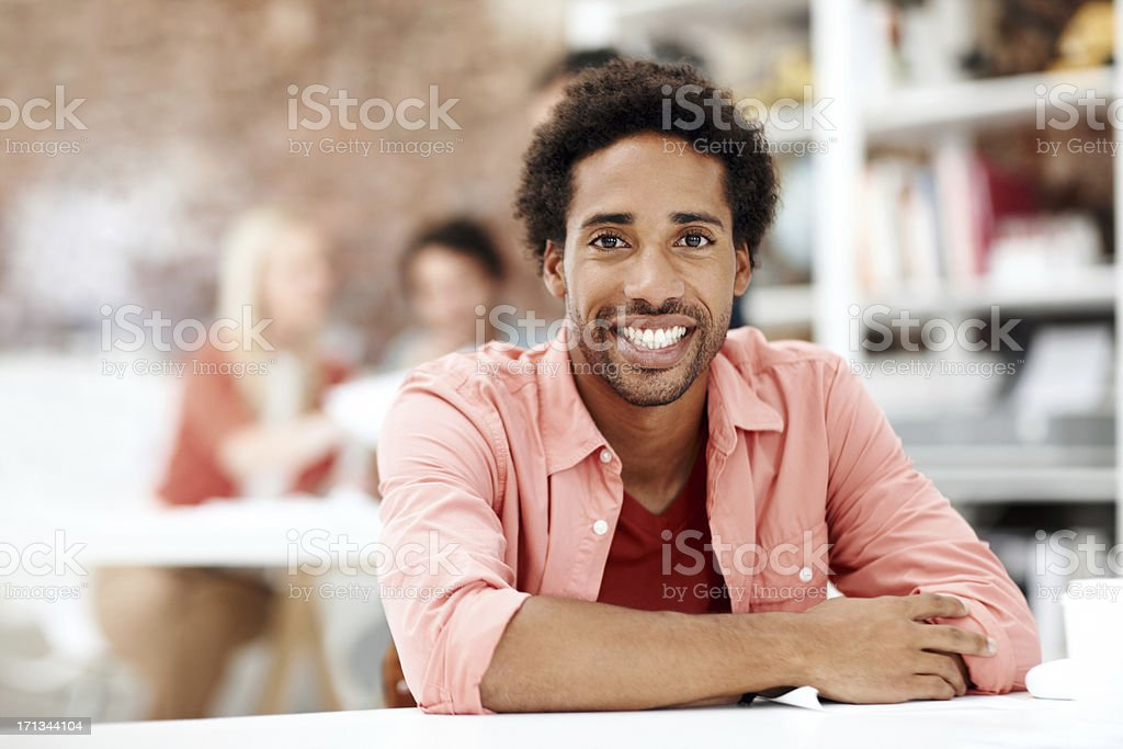 Comfortable in his career royalty-free stock photo