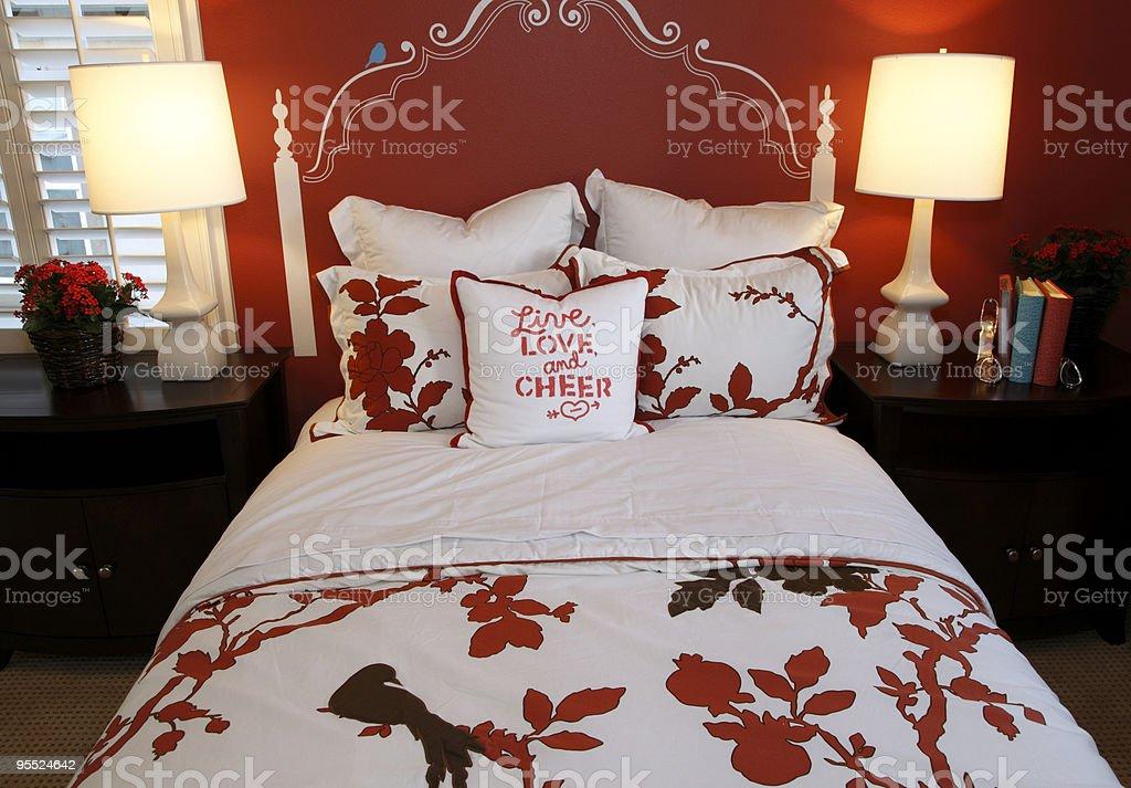 Comfortable luxury bedroom royalty-free stock photo