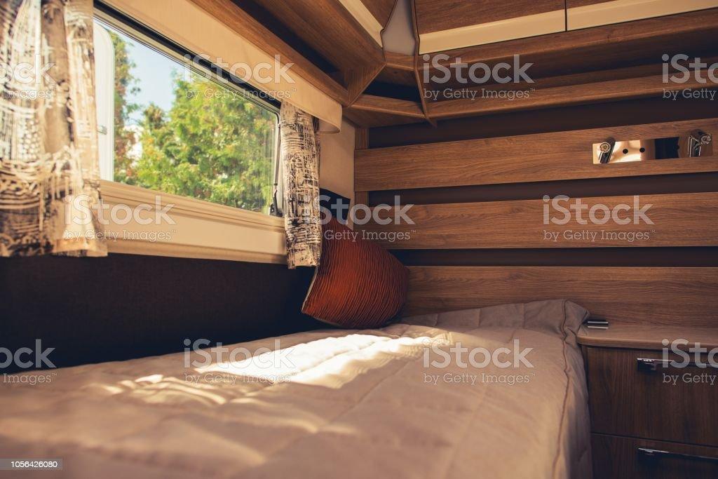 Comfortable Motorhome Interior Stock Photo