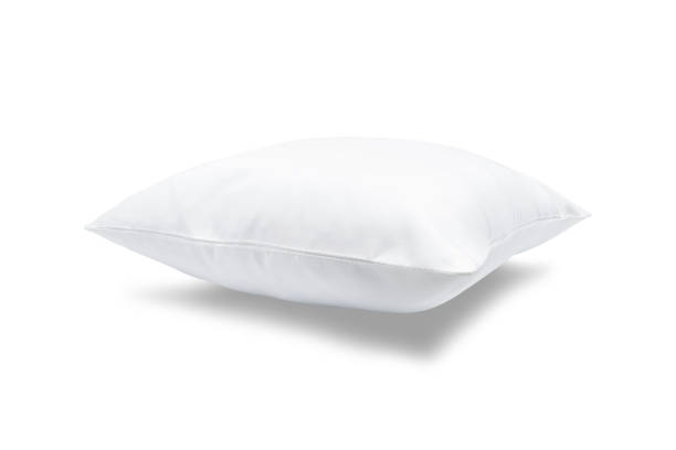 comfortable pillow on isolated background with clipping path for your design. - подушка стоковые фото и изображения