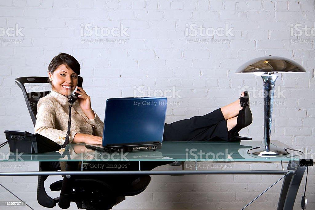 Comfortable success royalty-free stock photo