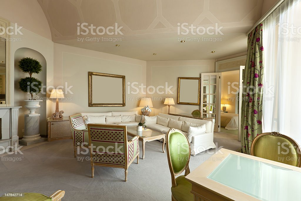comfortable suite, lounge royalty-free stock photo