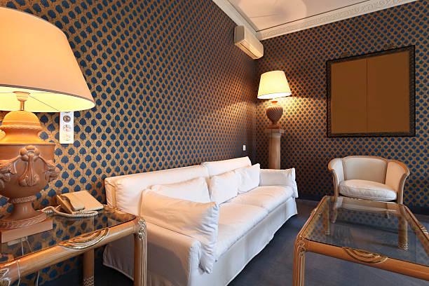 komfortable suite, lounge - schönen abend bilder stock-fotos und bilder
