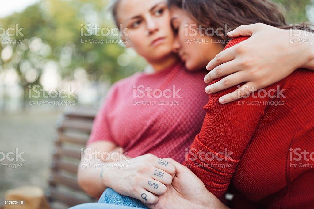 Comforting hug - Photo