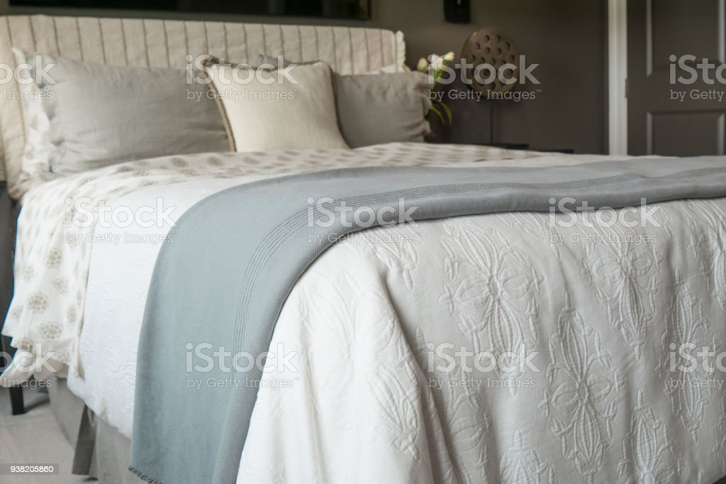 Comfy Bed stock photo