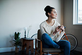 Shot of a young woman having coffee at homehttp://195.154.178.81/DATA/i_collage/pu/shoots/805862.jpg