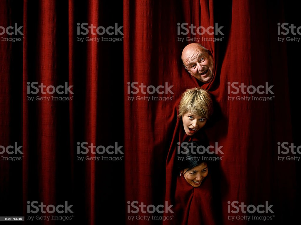 comic actors stock photo