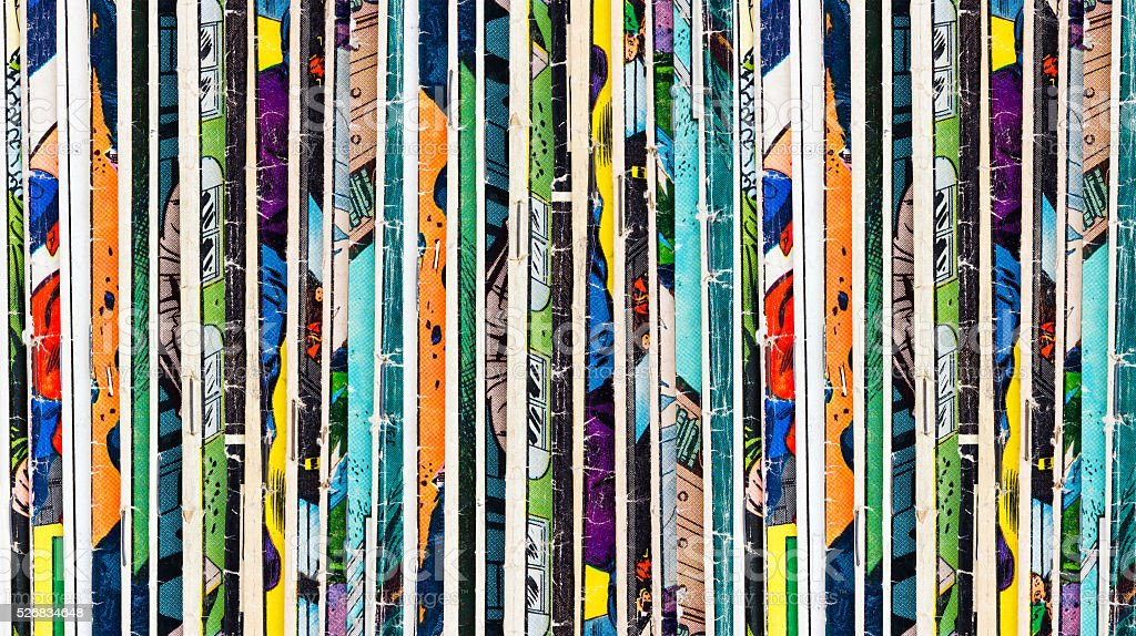 Comic Books Background Texture royalty-free stock photo