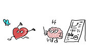 Comic - conflict between heart and brain - Plan A or Plan B