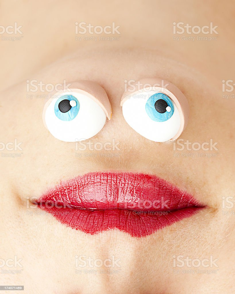 Comic face stock photo