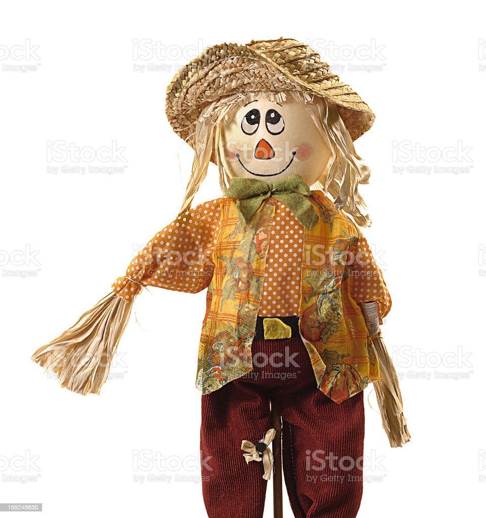 Comic scarecrow isolated on white stock photo