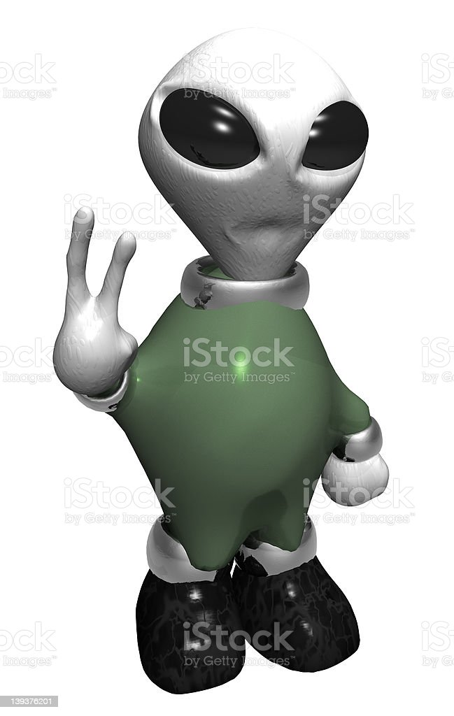 Comical Alien (Isolated) royalty-free stock photo