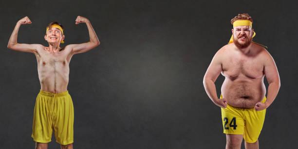 Drôles et comiques des athlètes gros et minces - Photo