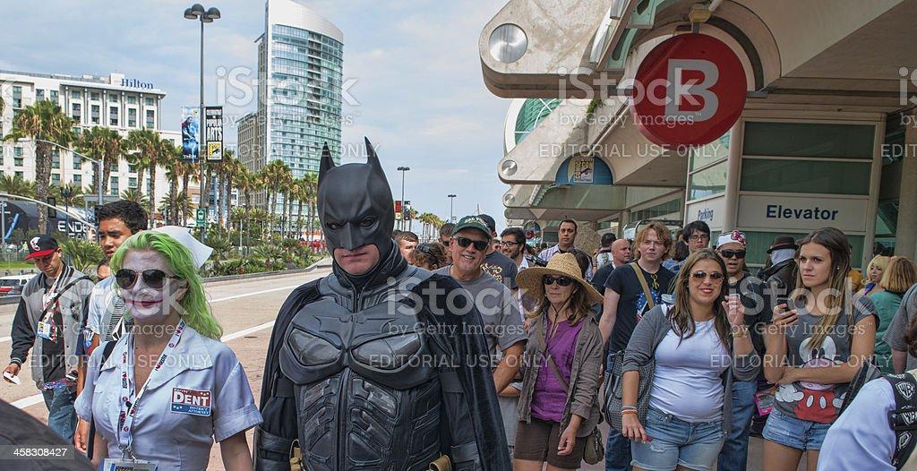 Comic-Con Street Scene royalty-free stock photo