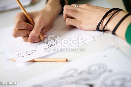 istock Comics artist's hands 488476019