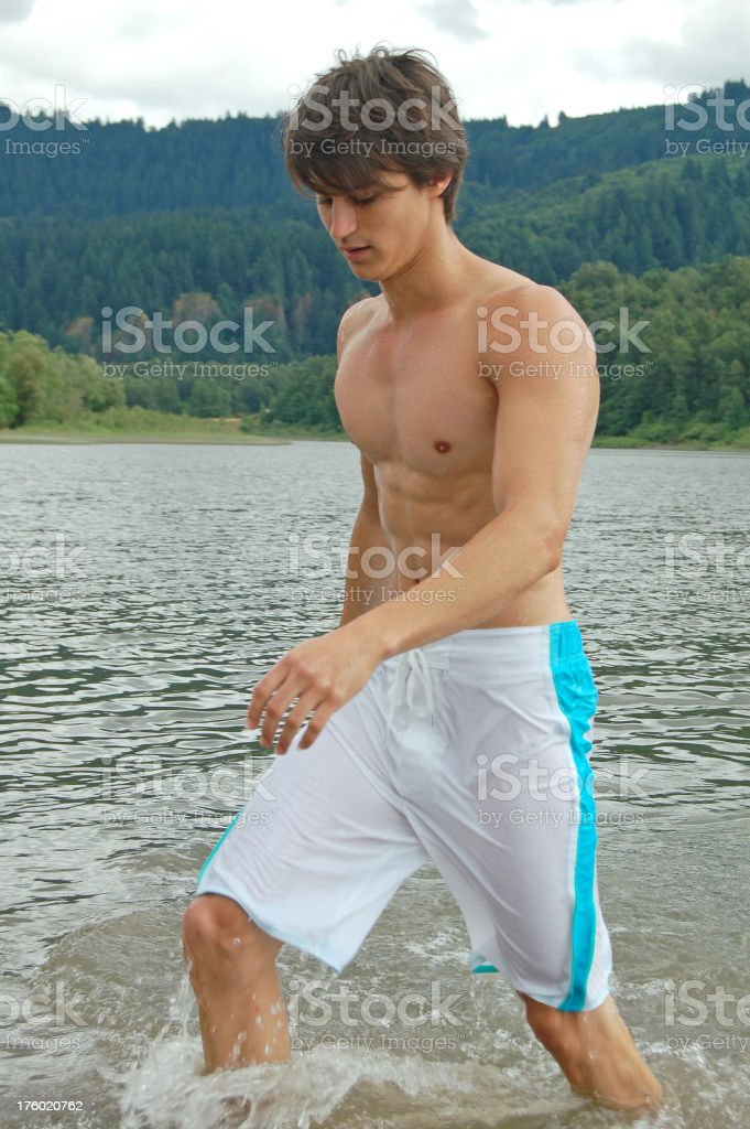 Coming Out of the Water royalty-free stock photo