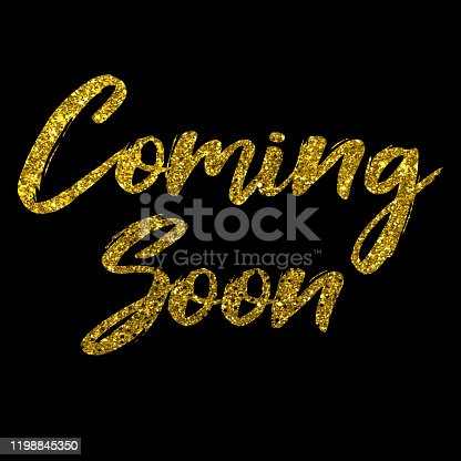 843847560 istock photo Coming Soon golden text new product release banner 1198845350
