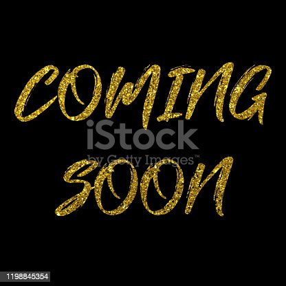 843847560 istock photo Coming Soon golden text new product release banner 1198845354
