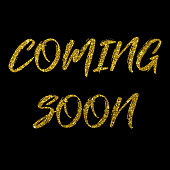 istock Coming Soon golden text new product release banner 1198845354