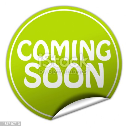 istock coming soon green sticker 181710713
