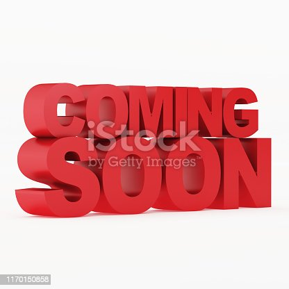 istock Coming soon message 3D rendering 1170150858