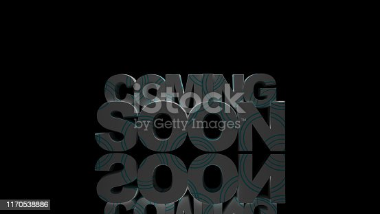 istock Coming soon message 3D rendering 1170538886