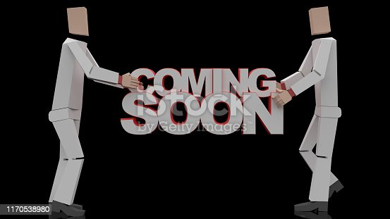 istock Coming soon message 3D rendering 1170538980