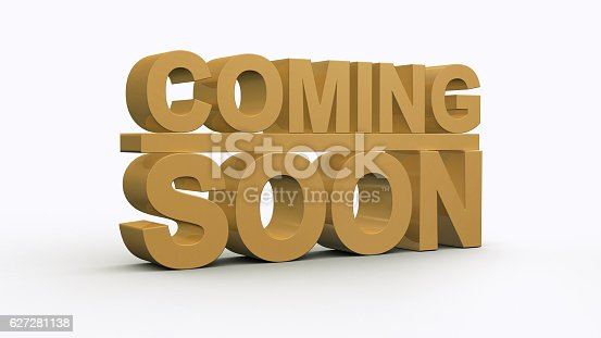 istock Coming soon message 3D rendering 627281138