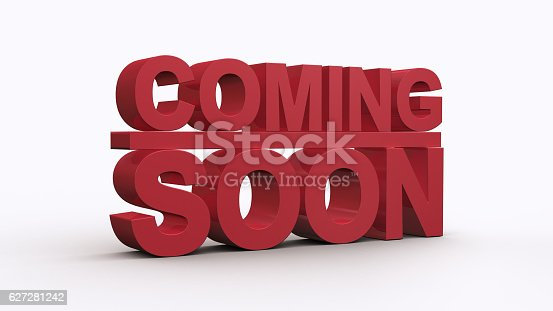 istock Coming soon message 3D rendering 627281242