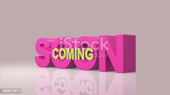 istock Coming soon message 3D rendering 635812874