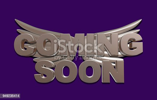 istock Coming soon message 3D rendering 949235414