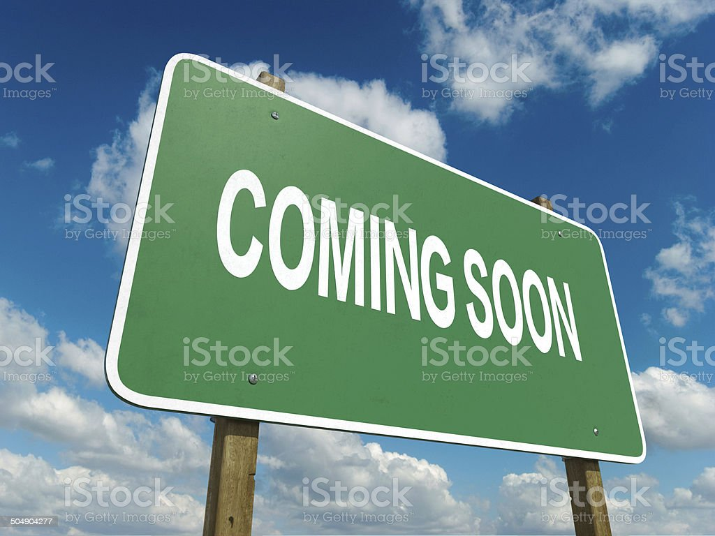coming soon stock photo