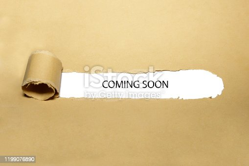 843847560 istock photo Coming Soon Ripped Paper Concept 1199076890