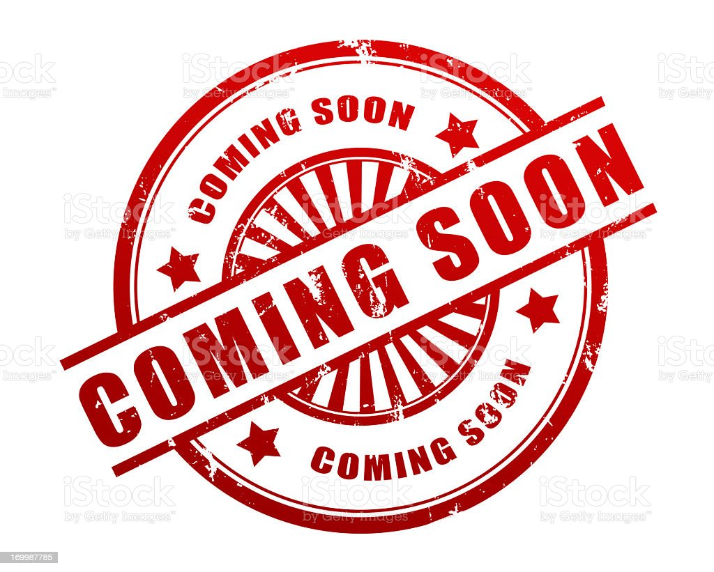 Coming soon stamp royalty-free stock photo