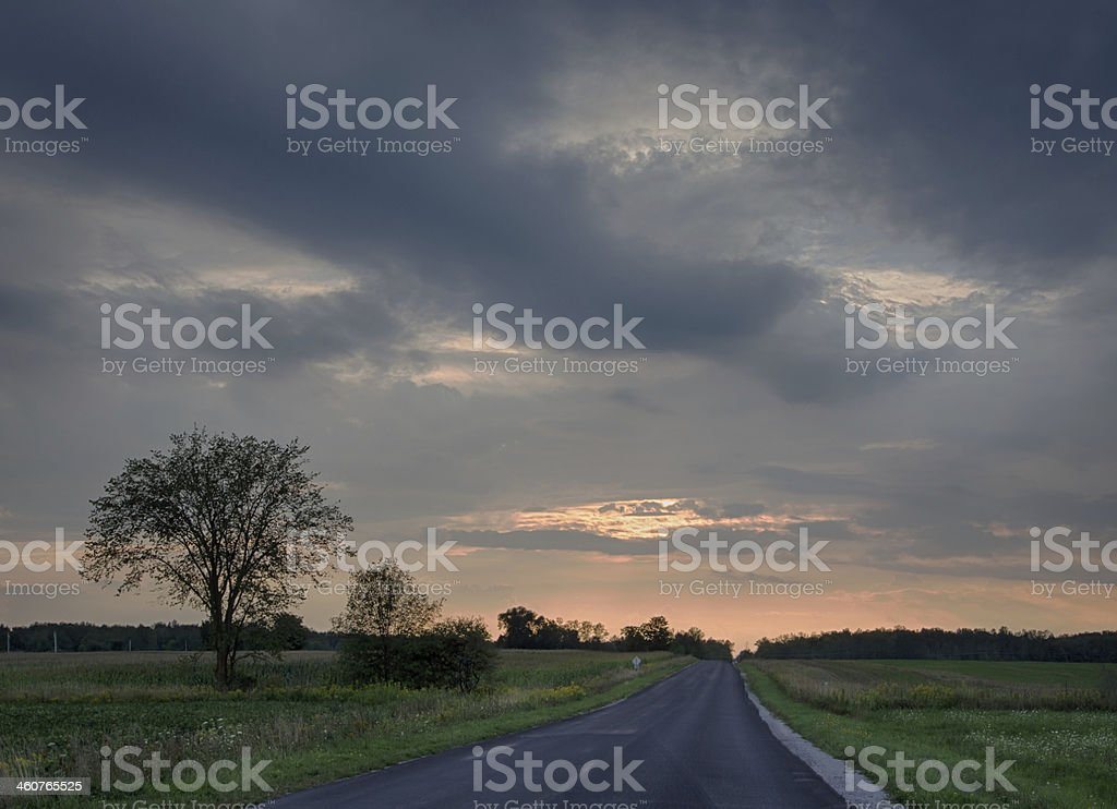 Coming storm near Barrie, Ontario, Canada stock photo