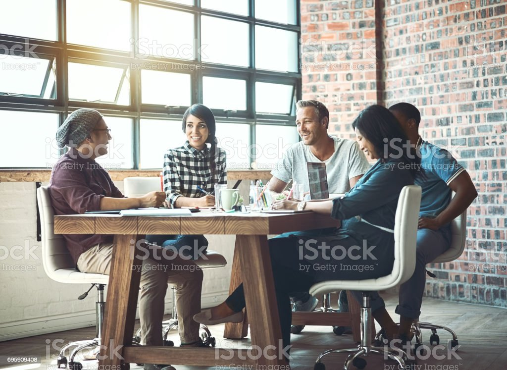 Coming together is a beginning. Working together is success stock photo