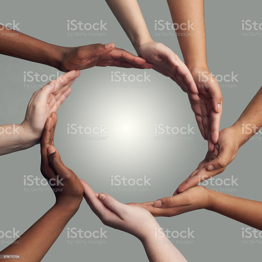 Coming together to form one stock photo